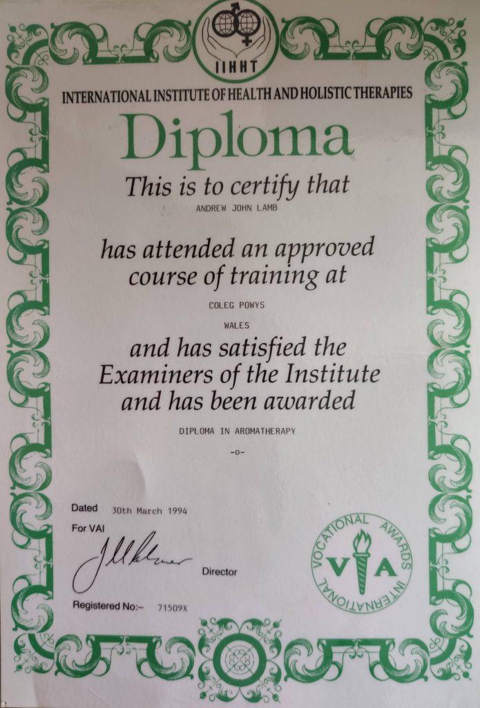 Quali – Diploma In Aromatherapy